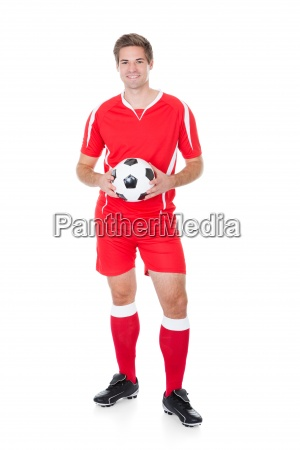 portrait of a soccer player