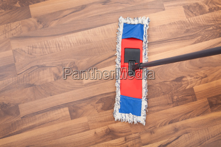 mop on hardwood floor
