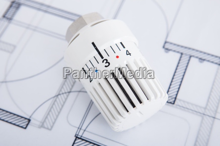heater thermostat on blueprint