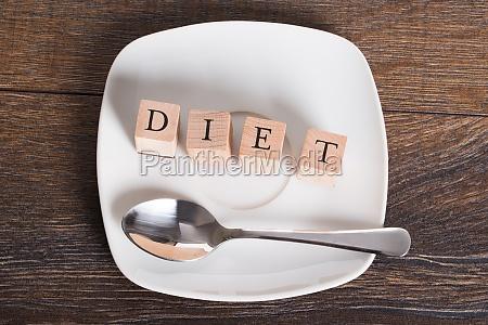 diet word on table