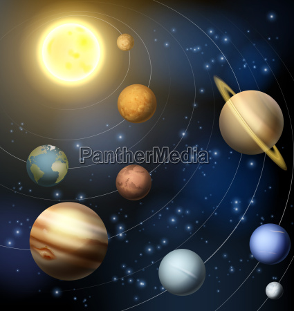 sonnensystem planeten illustration
