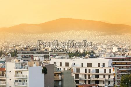 athens city panoramic view