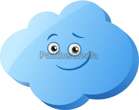 funny cloud cartoon illustration