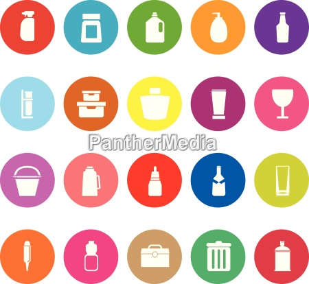 design package flat icons on white