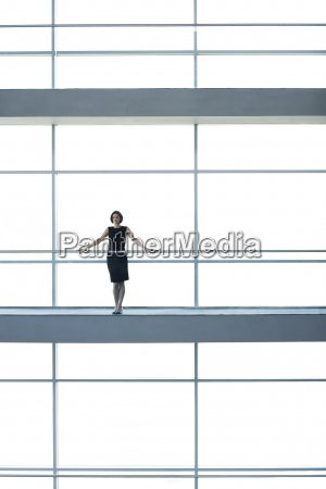 woman office corridor inside graphic modern