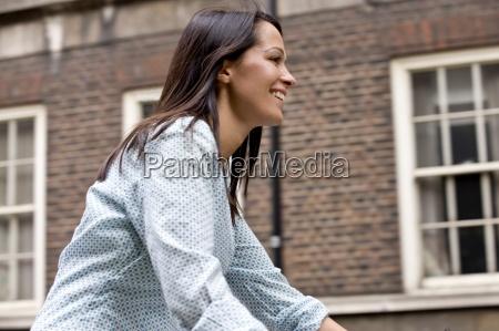 woman motion postponement moving movement laugh