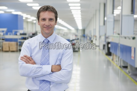 portrait of smiling businessman in