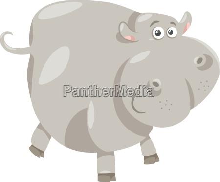 cute hippopotamus cartoon illustration