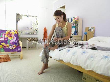 teenage girl 15 17 sitting on