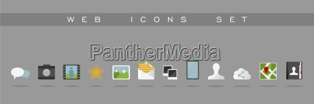 website and app design flat icons