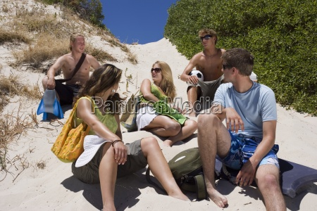 group of teenagers 17 19 sitting