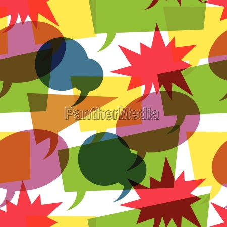 colorful retro speech bubbles seamless vector