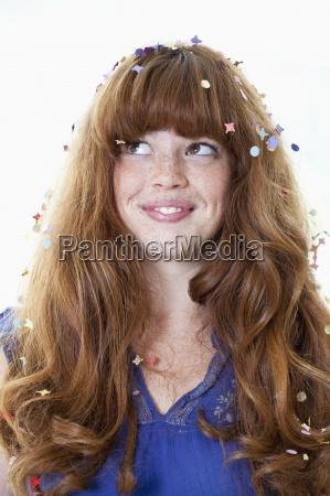 frau farbe entspannung weiblich verspielt portrait