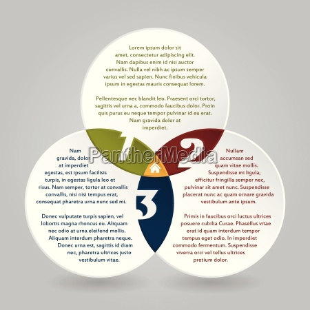 cool infographic circles design with options