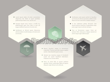 abstract hexagon infographic design