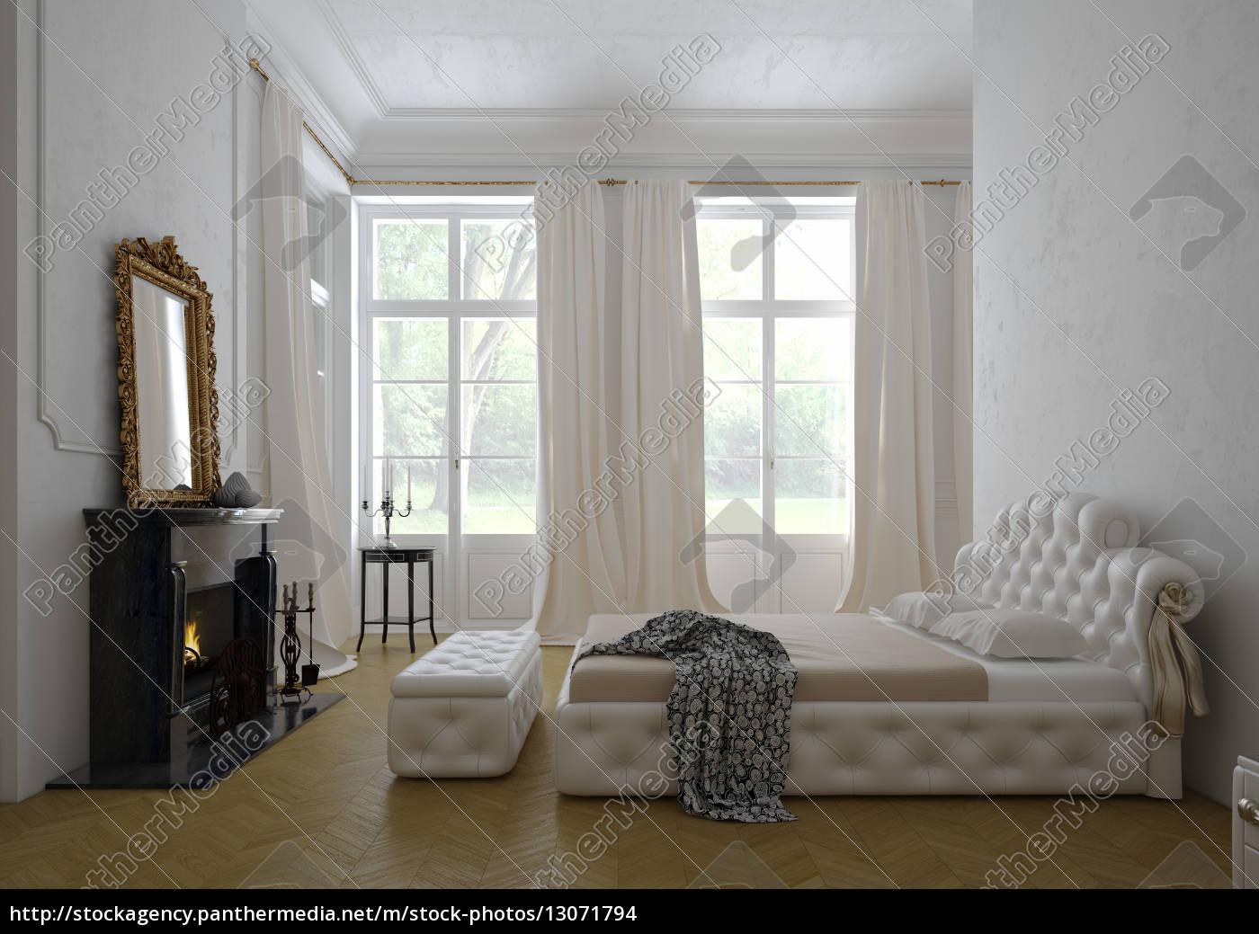modernen luxus-schlafzimmer interieur. 3d-rendering - stock photo ... - Moderne Luxus Schlafzimmer