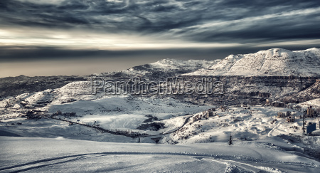 berge witterung libanon landschaftsbild landschaft natur