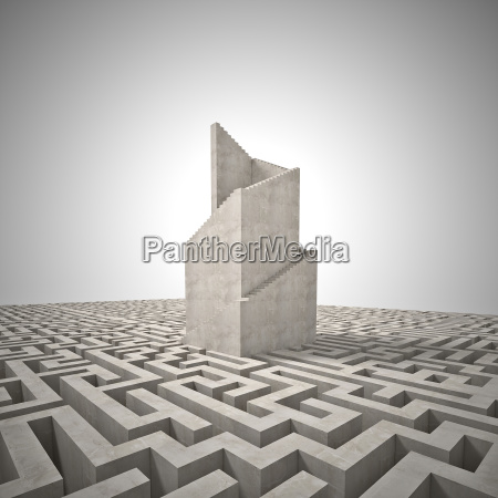tower and maze