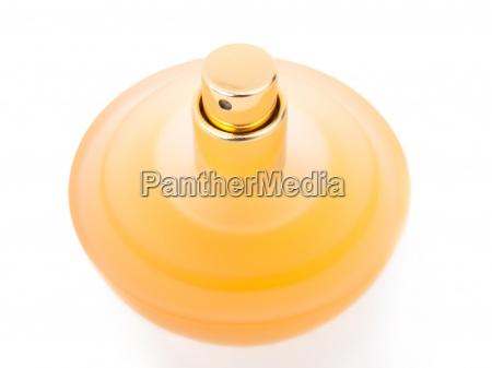 yellow beautiful bottle of perfume
