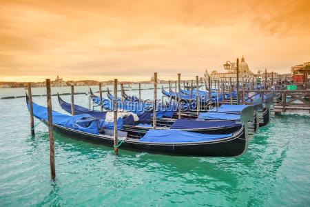 gondolas with view of santa maria