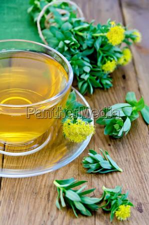 herbal tea with rhodiola rosea in