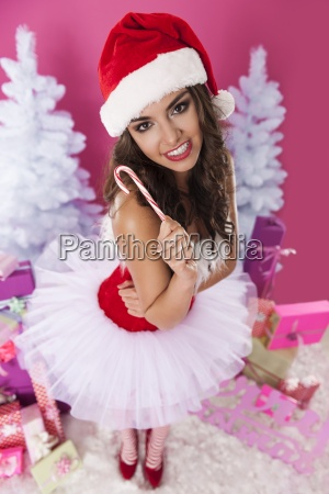 shes so cute of santa claus
