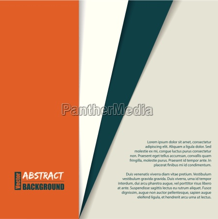 striped brochure with place for text