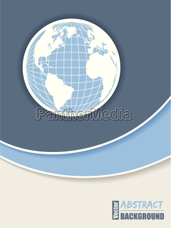 corporate brochure design in blue