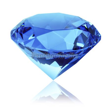 blauer diamant freigestellt
