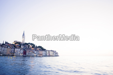 old city core of rovinj at