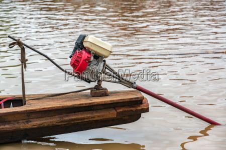 motor on a canoe
