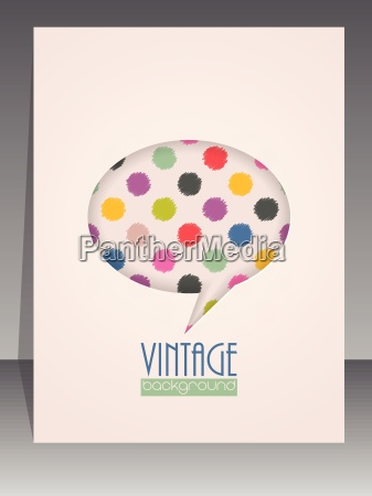 cool vintage scrapbook cover with speech