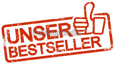 red stamp unser bestseller