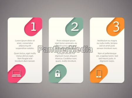 infographic tags with cool icons and