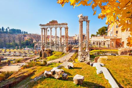 roman ruins in rome forum