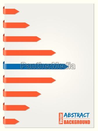 blue orange arrow brochure design