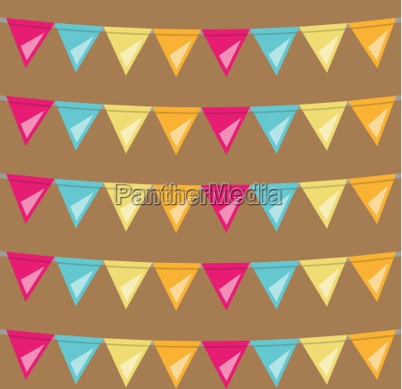 seamless bunting flags background