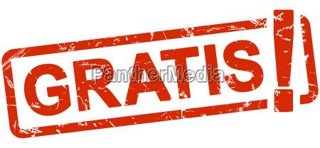 red stamp gratis
