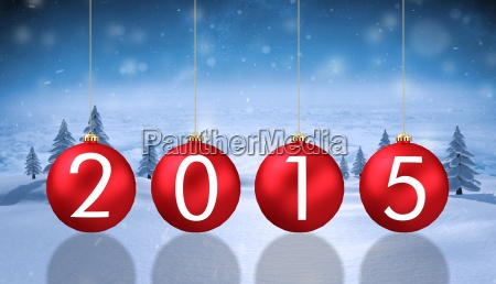 composite image of 2015 baubles