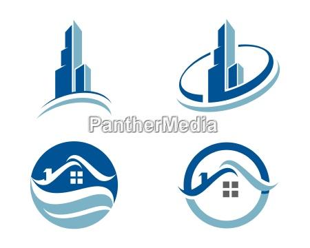 haus und gebaeudewohnungs logo vorlage