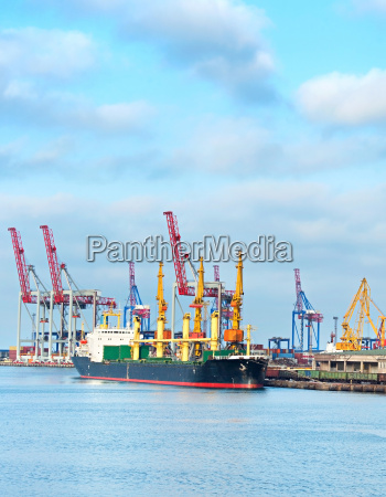 odessa industrial sea port ukraine