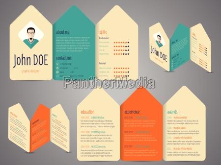 flyer design cv resume template