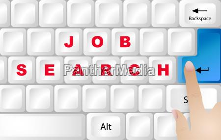 job searching internet concept vector
