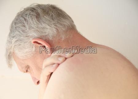 rash on the back of a