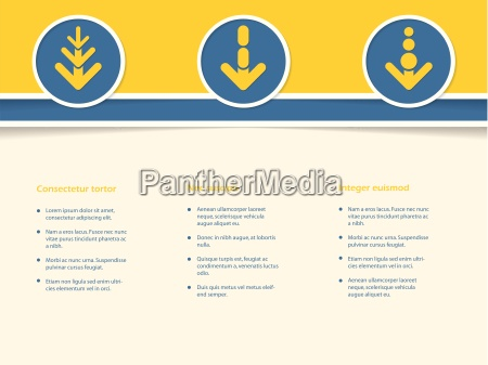 infographic design with arrows in circle