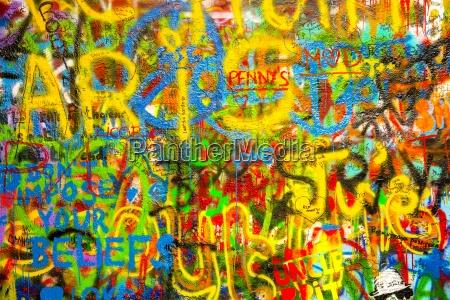 czechia prague john lennon wall graffitis