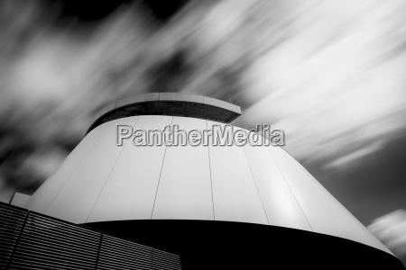 part of facade of futuristic buliding