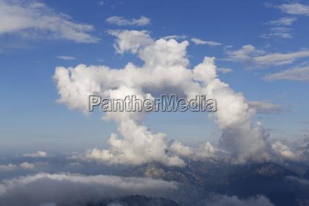 austria upper austria salzkammergut clouds above