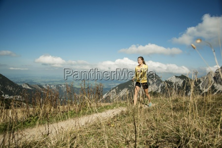 austria tyrol tannheim valley young woman