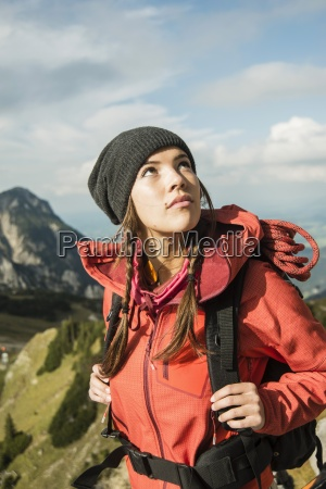 austria tyrol tannheimer tal young woman